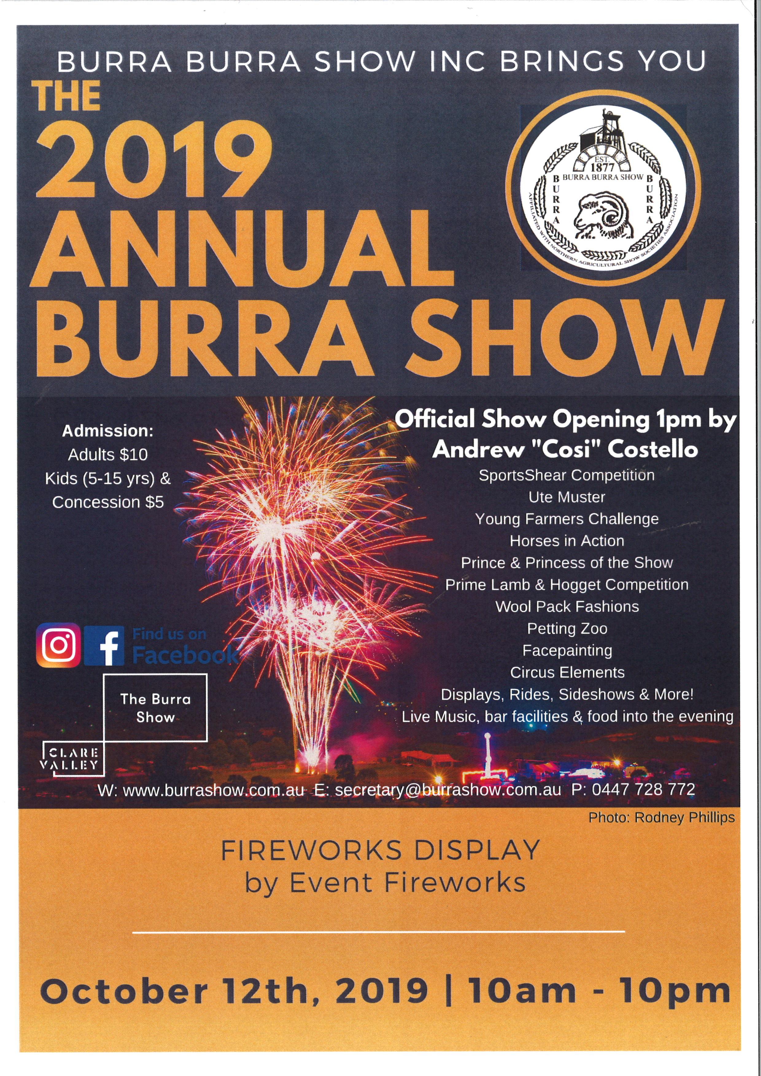 Burra Annual Show 2019